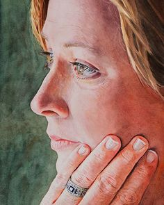 """Looking Forward"" on paper This of my wife Kim was a finalist in the Sanlam Portrait Awards Watercolour, Awards, Posts, Portrait, Paper, Artwork, Watercolor, Art Work, Messages"