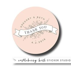 Wedding Thank You Stickers Personalized Favor Labels