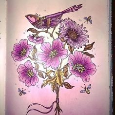 I had to repost this picture as for some reason in my previous post the birds tail was cut off 😄#adultcoloring #adultcolouring…