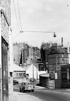 View looking towards Broughty Ferry Road from Blackscroft showing the Wallace Craigie Works and the tenements of Lilybank Road and Watson Street in the distance. Dundee City, Old Postcards, Creative Industries, Historical Photos, Great Britain, Old Photos, Scotland, Street View, Photographs