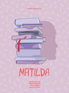 Matilda ~ Minimal Movie Poster by Eilidh Reid Matilda Movie, Pink Film, Broadway Posters, Pink Movies, Book Posters, Cartoon Posters, Movie Prints, Poster Prints, Disney Phone Wallpaper