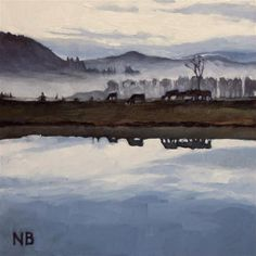"Daily Paintworks - ""Foggy Mirror"" - Original Fine Art for Sale - © Nora Bergman"