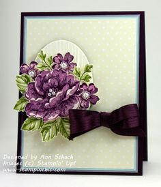 Stippled Blossom Beauties…and a Puppy Picture Horse Cards, Scrapbook Cards, Scrapbooking, Purple Cards, Stamping Up Cards, Get Well Cards, Cards For Friends, Flower Cards, Greeting Cards Handmade