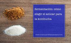 Fermentación: Cómo elegir el azúcar para la kombucha Kombucha, What You Eat, Healthy Recipes, Healthy Food, Ph, Natural, Fermented Foods, Homemade, Tips