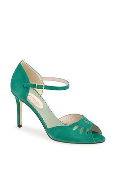 SJP Collection: Ina in Green New SJP shoe collection for Norstrom. #sweepsentry