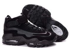 pretty nice 1748c 759a4 Nike Air Griffey Max 1 Mens Triple Black Nike Free, Nike Basketball Shoes,  Air