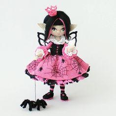 Часть 3. Эарина и ее магический хрустальный шар. ____________________________ Каркасная кукла. Итальянский хлопок. Рост 18 см. Не продается.