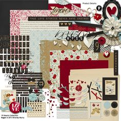 19 Hearts Collection Biggie - I just love the colors in this kit!