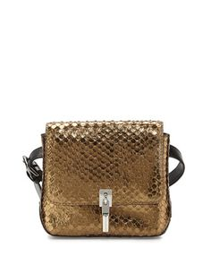 Cynnie Snake-Embossed Belt Bag, Bronze by Elizabeth and James at Neiman Marcus.