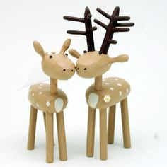 deer wedding cake toppers from bunnywithatoolbelt.com