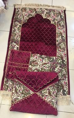 لطلب واتس اب فقط 0543221247 طق Muslim Prayer Mat, Islamic Prayer, Ramadan Crafts, Islamic Decor, Prayer Room, Crochet Pillow, Embroidery Fashion, Hand Embroidery Patterns, Diy Pillows