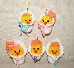 Игрушки новорожденные цыплята. Мастер - класс от Юлии Конончук вязание и схемы вязания