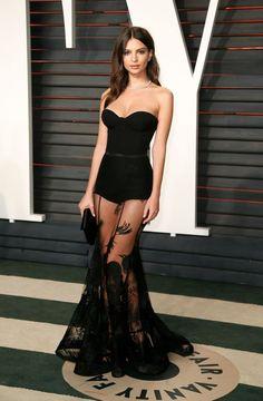 Emily Ratajkowski à l'after-party des Oscars