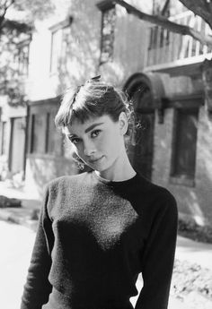 """audreyandmarilyn: """" Audrey Hepburn photographed by Mark Shaw during the filming of Sabrina, 1953. """""""