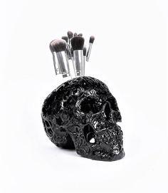 Skull Painted Skull Makeup Assessories Painted by hodihomedecor