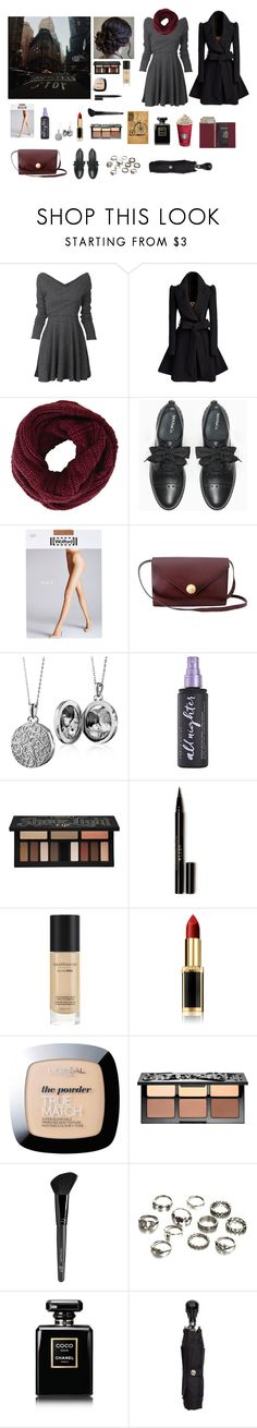 """""""Three days in New York"""" by circe-1emon ❤ liked on Polyvore featuring BCBGMAXAZRIA, Max&Co., Wolford, Fendi, Blue Nile, Urban Decay, Kat Von D, Stila, Bare Escentuals and L'Oréal Paris"""
