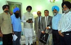 Punjab Chief Minister Mr. Parkash Singh Badal met with the visiting delegation led by Deputy Mayor of Saint Tropez Mr. Henri Allard & committed that Punjab Government would hand over the bust of the great Sikh warrior Maharaja Ranjit Singh to be installed at Saint-Tropez in France-the birthplace of his General Jean-Francois Allard, to the French Envoy in India during the month of June.  #AkalisforPunjab #ProudtobeAkali