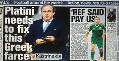 Sun: Ο Ολυμπιακός μπορεί να κοστίσει στον Πλατινί τις εκλογές της FIFA — ΣΚΑΪ (www.skai.gr) Fifa, Cyprus News, Germany, Around The Worlds, Football, Baseball Cards, Sayings, Sports, Soccer