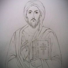 Pantocrato Christ Pantocrator, Pencil Shading, Jesus Face, Byzantine Icons, The Good Shepherd, Orthodox Icons, Gods And Goddesses, Christian Art, Jesus Christ