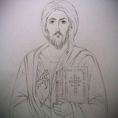 Pantocrato Christ Pantocrator, Pencil Shading, Jesus Face, Byzantine Icons, The Good Shepherd, Orthodox Icons, Christian Art, Gods And Goddesses, Jesus Christ