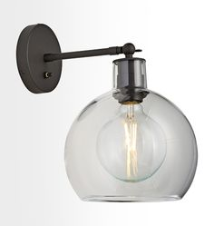 For above Sink:  Again can be made in different combinations  Edendale Straight Articulating Sconce Clear Glass A3454
