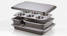 Baker's Secret®   Kitchen Space Saver: Easy Store™ Nesting Bakeware   World Kitchen