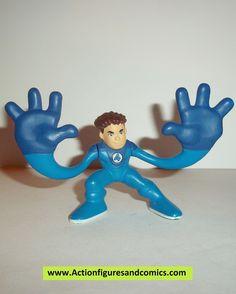 Marvel Super Hero Squad MR FANTASTIC blue gloves four 4 complete pvc action figures