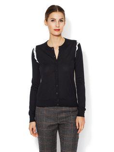 Cashmere Lace Trim Cardigan  Cardigan #Dress #TuxedoWomen #Shirts