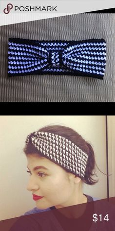Black and White Turban Headband 🚨no offers accepted🚨  Handmade crocheted black and white Turban style headband. Perfect for Fall and Winter.   Are we Instagram friends yet? For updates and sneak peaks check out @rainar00 😘 Not Three Bird Nest, I make these Three Bird Nest Accessories Hair Accessories