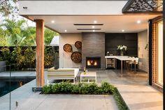 Lounge Design, Pergola Designs, Pool Designs, Backyard Designs, Backyard Ideas, Modern Outdoor Living, Modern Pergola, Metal Pergola, Modern Backyard