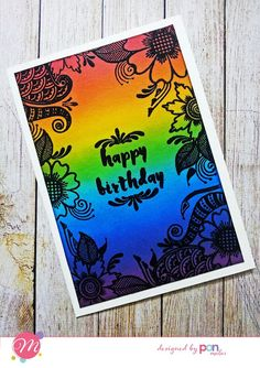 Gorgeous card with simple black embossing to highlight the stamp. Good Morning Friends, Color Card, Highlight, Stamp, Simple, Cards, Black, Lights, Black People