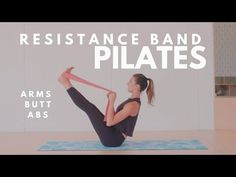 Pilates workout with band _ pilates training mit band _ entra. Pilates workout with band _ pilates training mit band _ entraînement de pilates Pilates Abs, Pilates Workout Routine, Pilates Training, Pilates Videos, Pilates Solo, Abs Workout Video, Barre Workout, Resistance Workout, Pilates Reformer