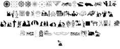 Random Dingbats font by Intellecta Design - FontSpace