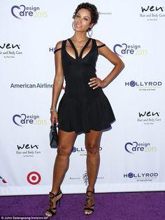 228d30d250b Eva Longoria sizzles in skin-tight white dress at charity gala. Nicole  MurphyJennifer ...