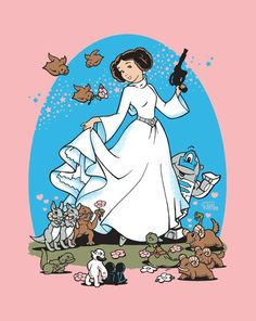 dont know who did this disney princess leia but it is awesome!!