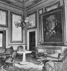 Red Room, 1869, during First Lady Julia Grant's first year.