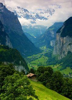 The Lauterbrunnen valley in Switzerland.