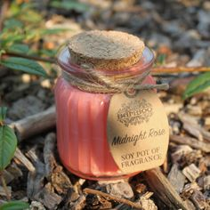 Midnight Rose Soy Pot of Fragrance Candles Paraffin Candles, Soy Wax Candles, Candle Jars, Pink Candles, Floating Candles, Large Glass Jars, Aromatherapy Candles, Water Flowers, Natural Brown