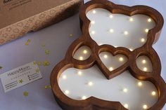 Night light Bear Marquee light Nightlight HandMade Wall
