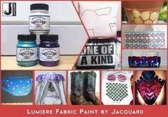 Lumiere fabric paint from Jacquard · Craft Test Sidekicks · Cut Out + Keep Craft Blog