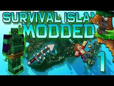 Minecraft: Modded Survival Island Let's Play w/Mitch! Ep. 1 - NEW MOBS & WEAPONS!