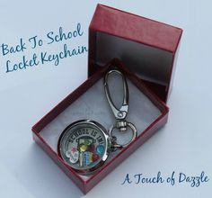 A Touch of Dazzle Back to School Locket Keychain & Giveaway! - WEMAKE7