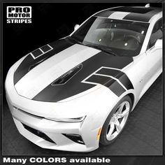 Chevrolet Camaro -SS- Style Over The Top Stripes 2018 2017 2016 Chevrolet Camaro Vinyl Stripes Decals High quality factory style and unique Auto Graphics Cool Sports Cars, Sport Cars, Camaro 2016, Car Tattoos, Car Racer, Car Wrap, Chevrolet Camaro, Volkswagen Golf, Custom Cars