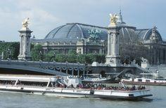 Bateau Mouche passing near the Grand Palais. Tour Eiffel, Stone Facade, Shopping Street, Paris Ville, Paris City, Paris Apartments, Grand Palais, Champs Elysees, Classical Architecture