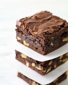 best brown butter cocoa brownies; browning the butter adds a nutty toffee element to the brownies, and adding in the espresso powder just enhances the chocolate flavor; crunchy top, and fudge like center make this by far the best damn brownie
