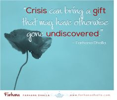 Creation is always preceded by crisis. Something beautiful in you has been birthed in the crisis.