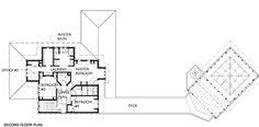Prairie Style House Plan - 3 Beds 2.50 Baths 2660 Sq/Ft Plan #454-6 Floor Plan - Upper Floor Plan - Houseplans.com