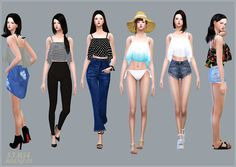 Sims 4 CC's - The Best: Ruffle Sleeveless Crop Tops, Accessory Tops and Mo...