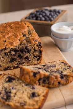 #WakeUpWithStonyfield with this delicious Stonyfield Blueberry Oatmeal Bread recipe!