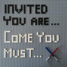Lego Star Wars party invitation
